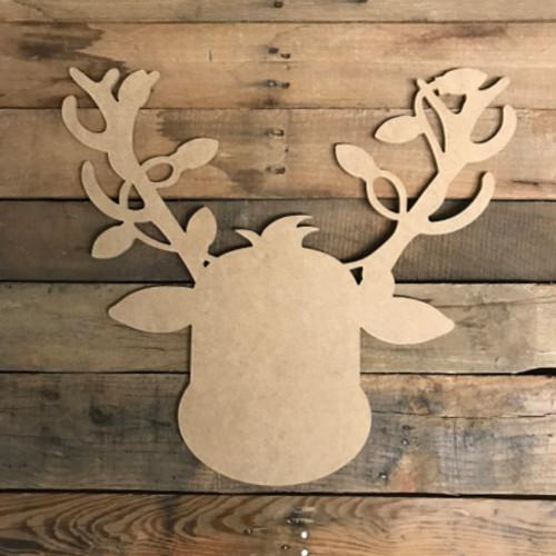 Reindeer with Lights, Unfinished Christmas Shape, DIY Wood Craft