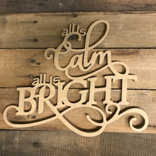 All is Calm, Unfinished Wood Word, Alphabet Paintable DIY