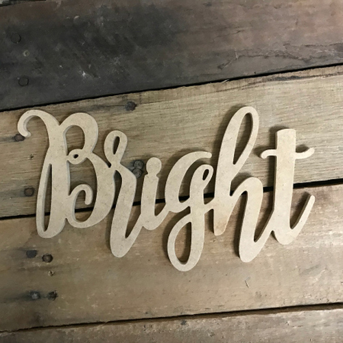 Bright Word, Unfinished Shape, Alphabet Paintable DIY