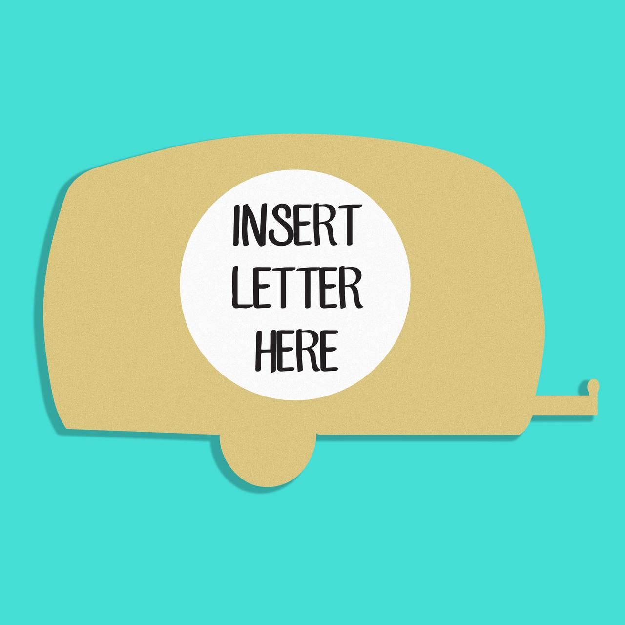 Unfinished Wooden Camper Frame Letter Insert Monogram Wooden Craft ...