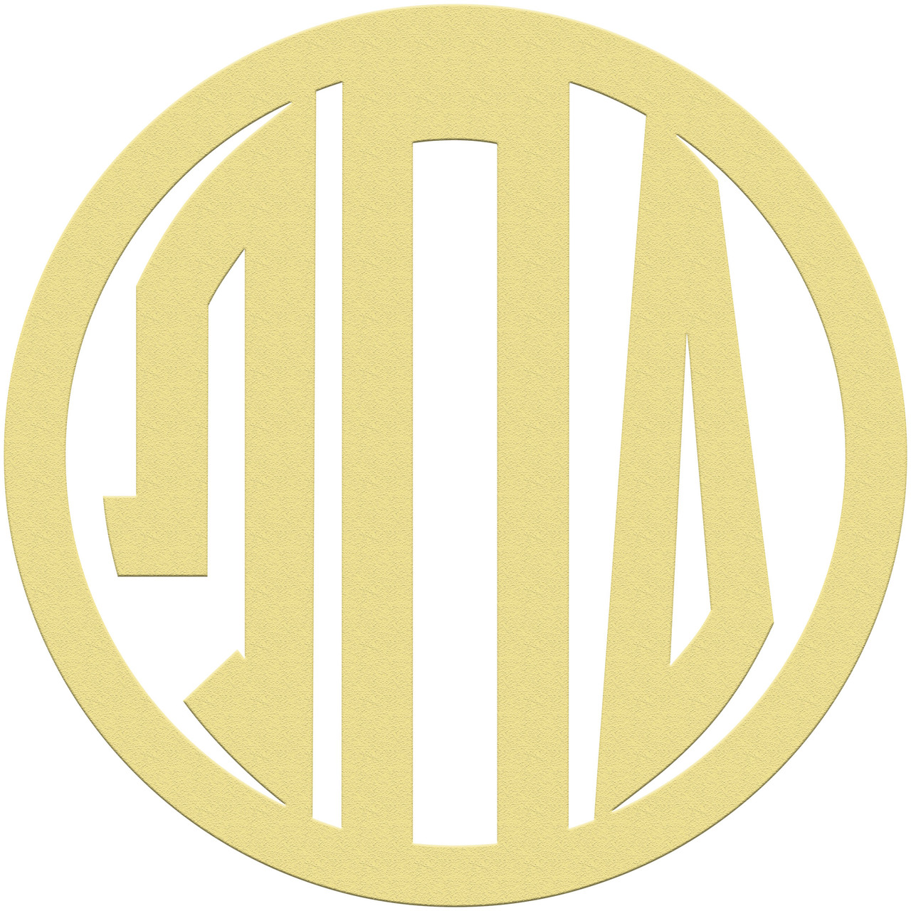 Unfinished Circle GREEK Wooden 3-Alphabet Letter Monogram - Build-A ...