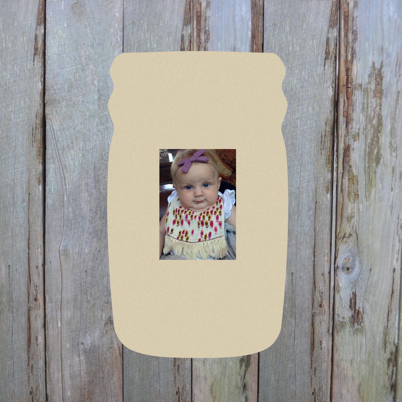 Wooden Mason Jar Custom Picture Frame, Wood Photo Frame