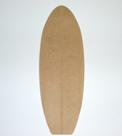Surfboard Beaded Board Unfinished Cutout Wooden Shape