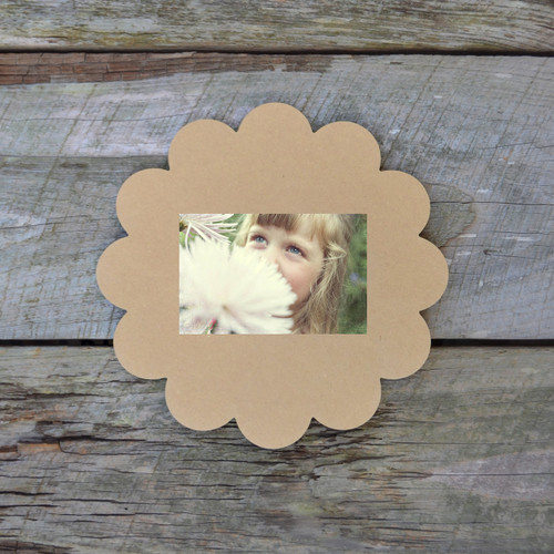 Unfinished Whimsical Picture Frame Wooden Craft Paintable Wood