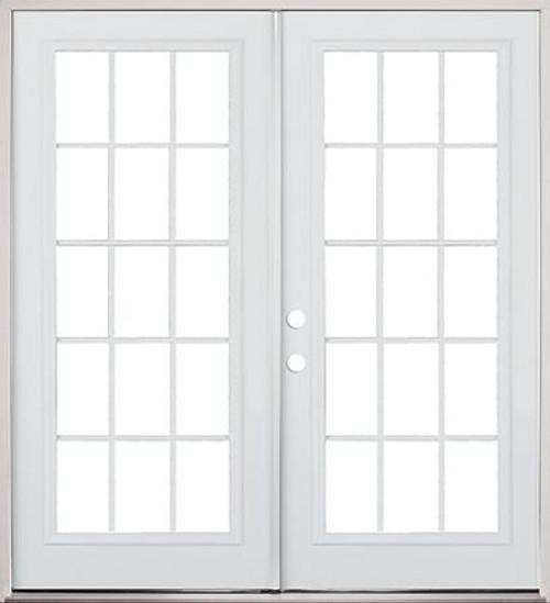 74 Exterior Steel French Door 15 Lite Primed Prehung Doors