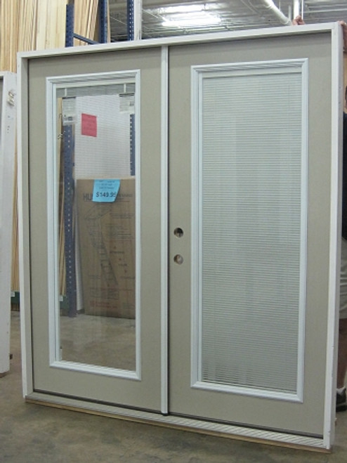 6 French Door Full Mini Blind Prehung Doors French Patio
