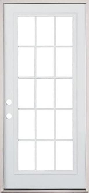 30\  32\  or 36\  15 Lite Exterior Pre-Hung Primed  sc 1 st  Surplus Building Materials & 3615 Lite Exterior Pre-Hung Primed Steel Door -DOORS