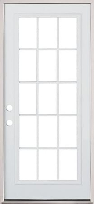 3615 Lite Exterior Pre-Hung Primed Steel Door -DOORS