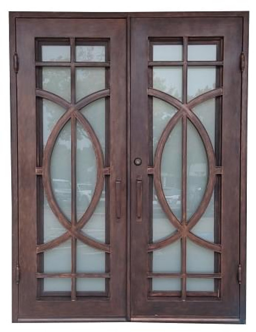 60x80 Fish Exterior Wrought Iron Door Outswing
