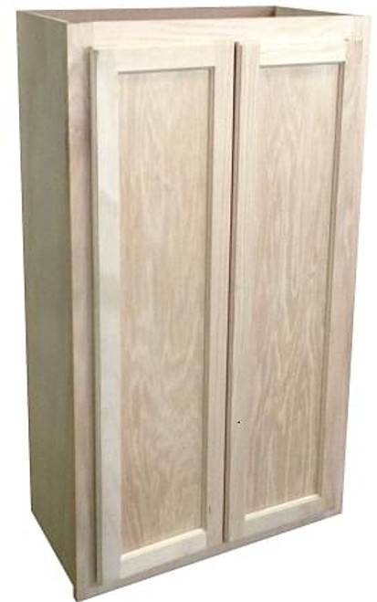 Wall Cabinet Oak | 27  x 42  ... & Wall Cabinet 24x30 Unfinished Oak-KITCHEN | CABINETS | UNFINISHED ...