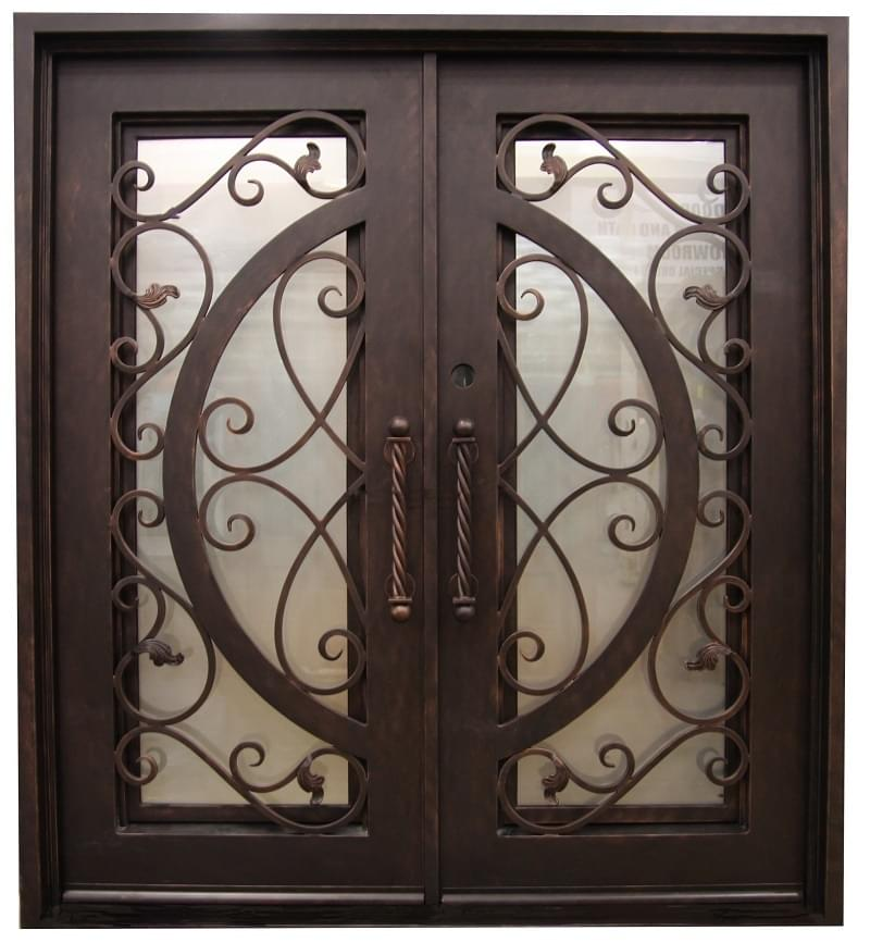 High Quality Front Doors In Wood Iron Fiberglass