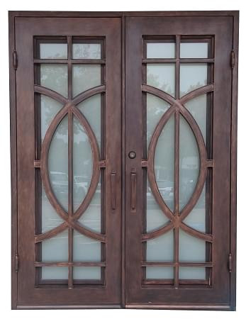 6 0 Quot X8 0 Quot Fish Exterior Wrought Iron Door Outswing