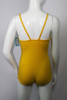 Vintage 1960s Regal Yellow Swimsuit with Net Front