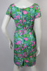 1960s Mr. Blackwell Multi Colored Wiggle Dress with Brooch