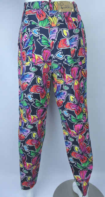 Vintage 1980s Lilly Pulitzer Butterfly Pants