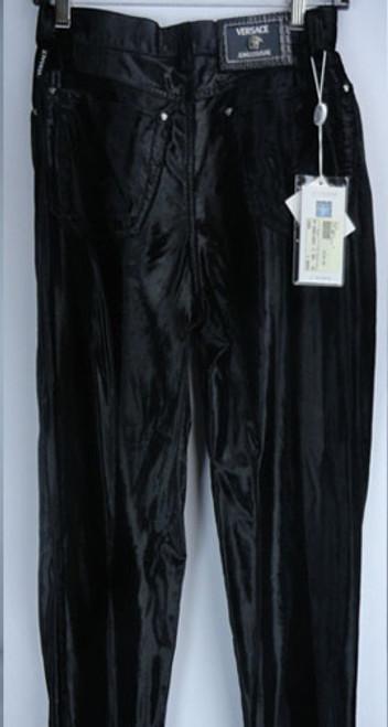 Vintage 1980s Authentic Black Velvet Versace Jeans