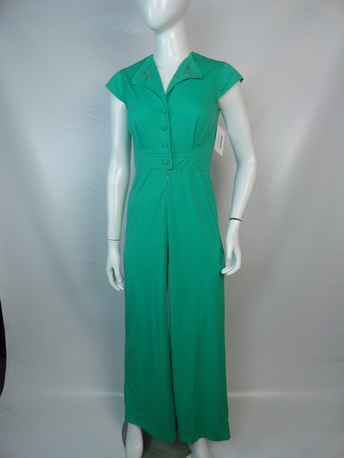 "SOLD Vintage 70's Kelly Green ""Jerell"" Jumpsuit"