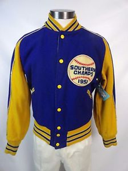 "Vintage ""1951 Southern Champs"" Wool Reversible Letterman Jacket SOLD"