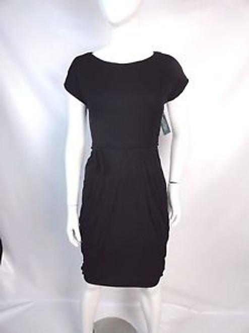 Vintage 50's Black Pleated and Bustled Dress