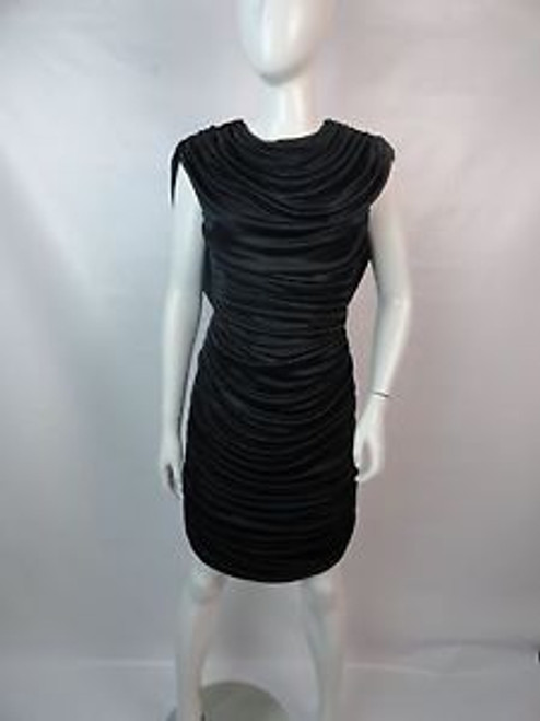 "Vintage 80's ""Gilberti"" Ruched Drape Back Dress"