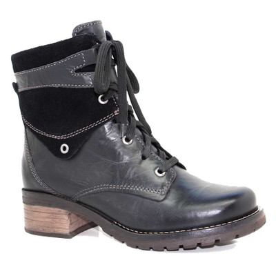 Dromedaris - Kara Boot - Black Leather/Suede