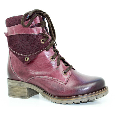 Dromedaris - Kara Boot - Print Violet Leather