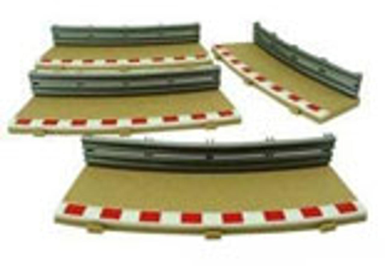 Scalextric Sport Radius 4 Curve Inner Borders 22.5° - SCL-C8282