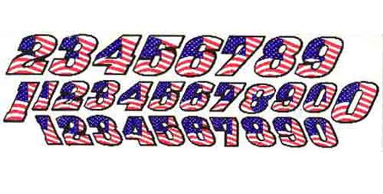 JK Pre-Cut Numbers - American Flag - JKS5 / JK-20031F