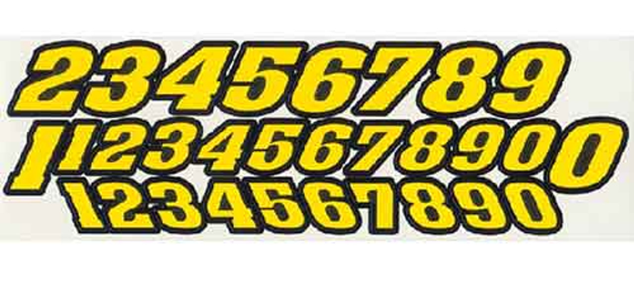 JK Pre-Cut Numbers - Yellow - JKS8 / JK-20031Y