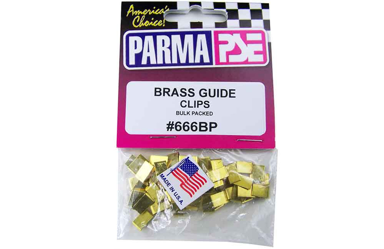 Parma Brass Guide Clips - 25 Pr. Bulk Pk.- PAR-666BP