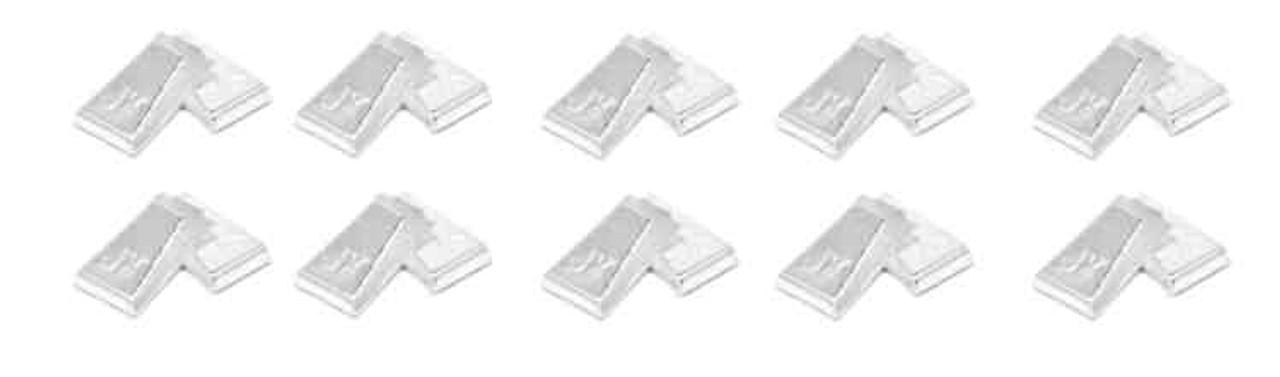 JK Silver Plated Copper Guide Clips 50 pr Pack - JKU28-50