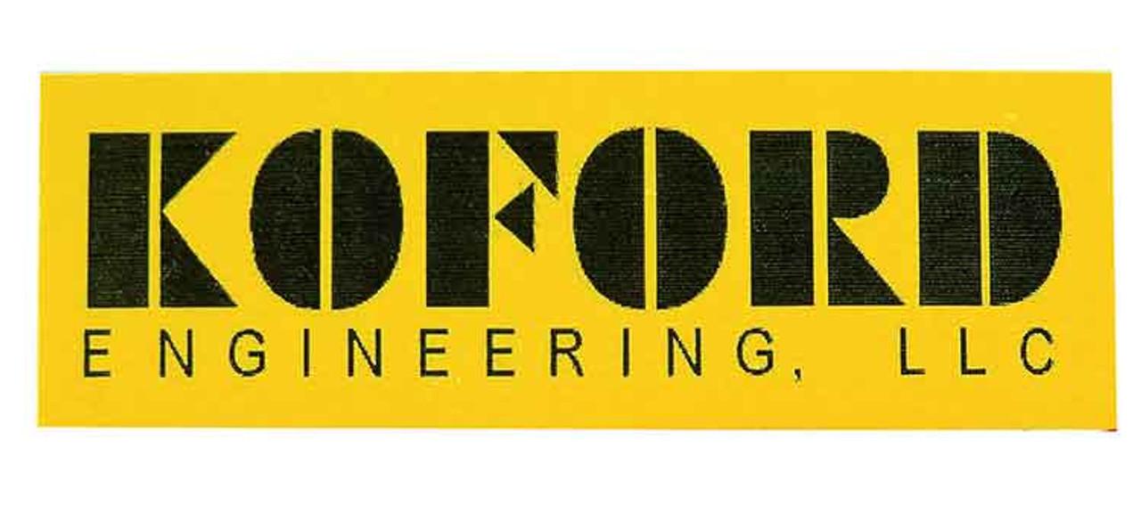 Koford Yellow Spoiler Stickers - Pk of 6 - KOF-M719