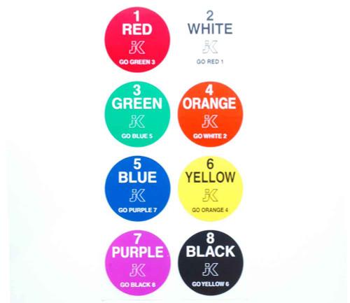 JK Lane Stickers 200 pack - JKS1-200 / JK-150B