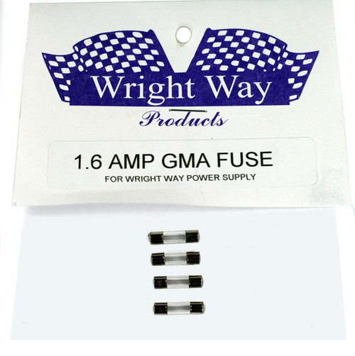 Wright Way Replacement Fuses 1.6 Amp, 4 pack - WW-FUSE