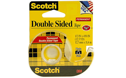 "Scotch / 3M 1/2"" Double Sided Tape - 3M-137"