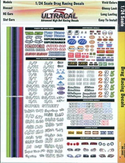 Ultracal 1/24 Drag Racing Decals - MG-3442