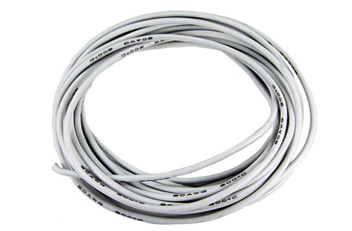 PCH Premium 20 Gauge Leadwire - 10 Ft - White - PCH-2120