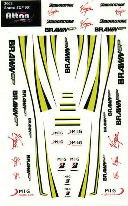 Attan Brawn F1 Sticker Sheet - ATT-BBGPF1