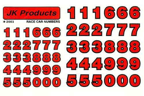 JK Race Numbers - Red - JKS16-6 / JK-2003R