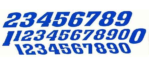 JK Pre-Cut Numbers - Blue - JKS4 / JK-20031BL