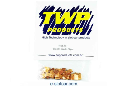 TWP Bronze Guide Clips - 25 Pr. Bulk Pk.- TWP-TER-001