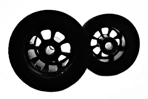 H&R Nascar Rear Tires - Black Rims -  HR-1110