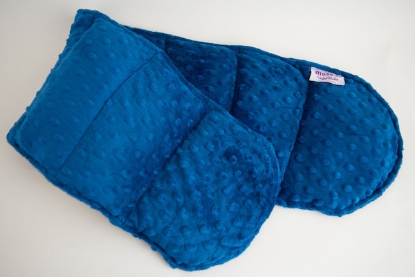 Blue Minky Shoulder Wrap Weighted Blanket