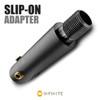 .557 to 14mm x 1 LH Thread Adapter - Black (Steel)