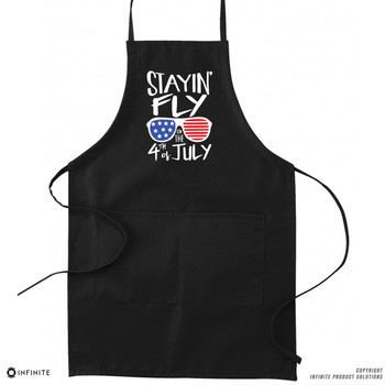 'Stayin' Fly on the 4th of July' Premium Canvas Kitchen Apron