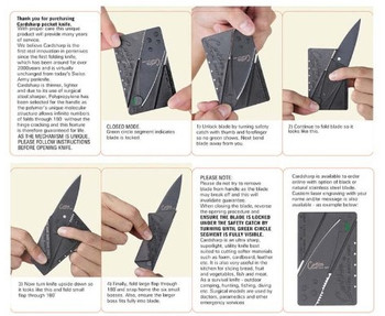Iain Sinclair Cardsharp Credit Card Knife