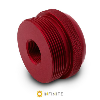 5/8-24 RH to D Cell Maglite Adapter - Red