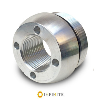 i4003 Curved End Cap - Shiny Aluminum
