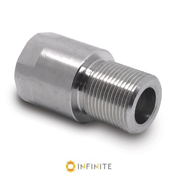 15mm x 1 RH to 5/8-24 RH Thread Adapter - Stainless Steel