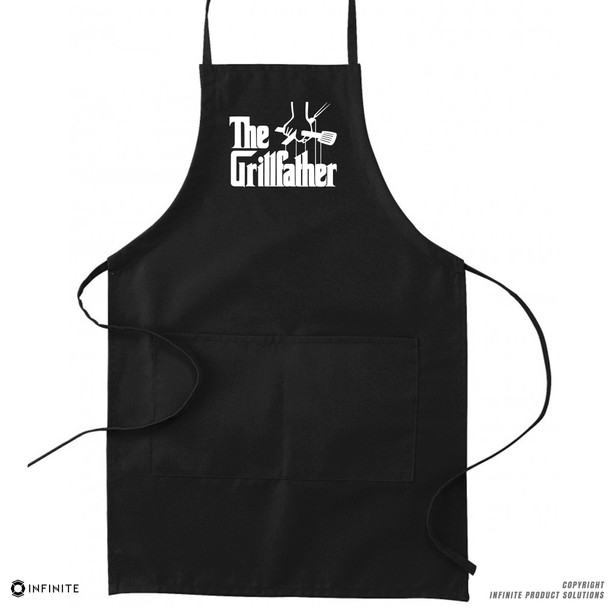 'The Grillfather' Premium Canvas Kitchen Apron